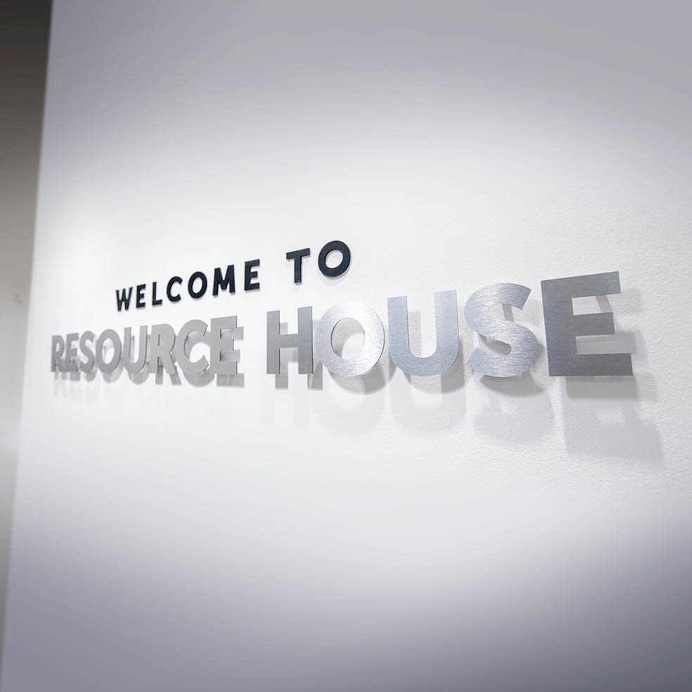 Resource House Lettering