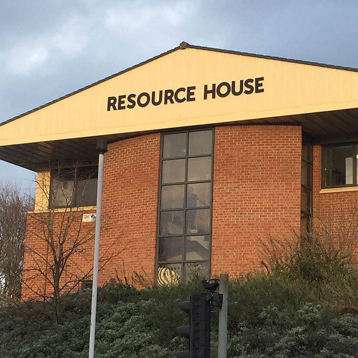 Resource House Exterior Stand-Off Lettering
