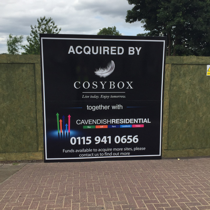Cosybox Construction Site Hoarding