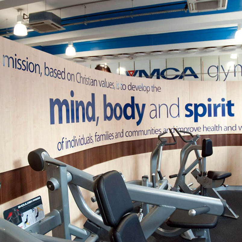 YMCA Gym Wall Vinyl