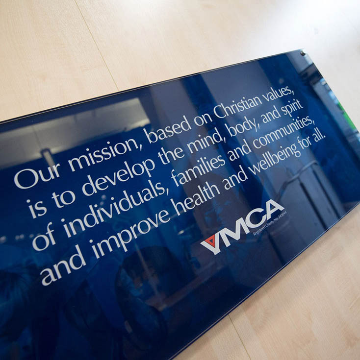 YMCA Mission Sign