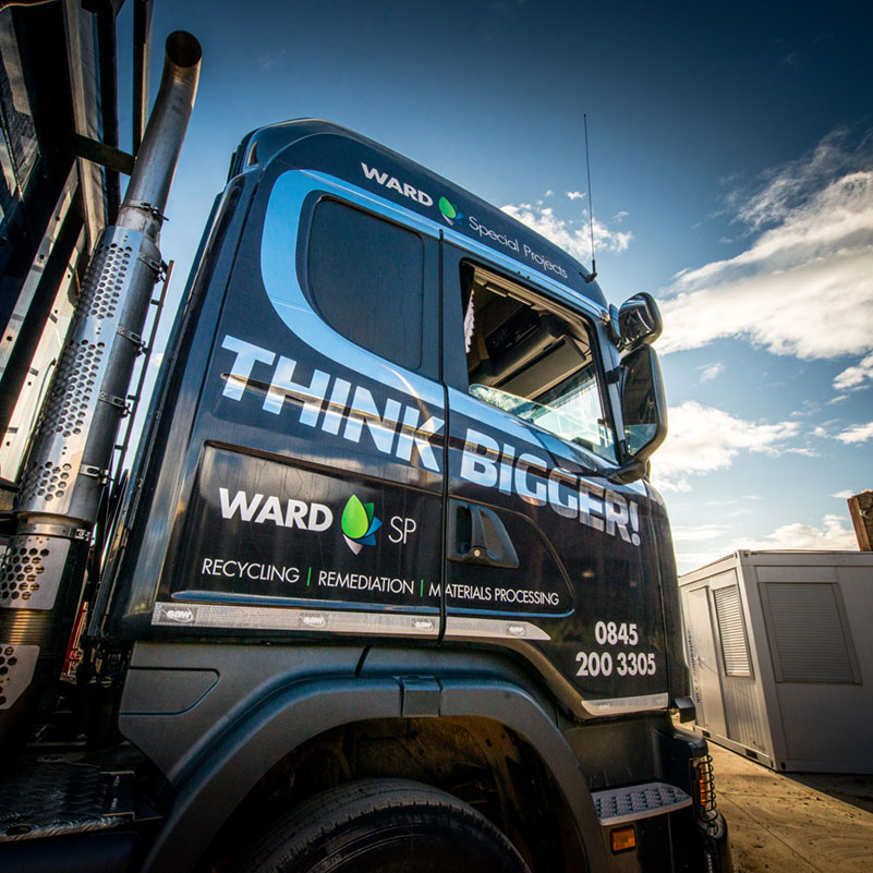 Ward Think Bigger Truck Wrap