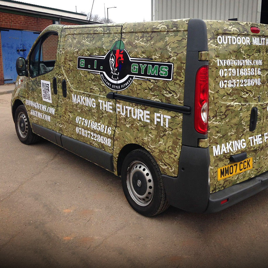 GI Gym Van Wrap